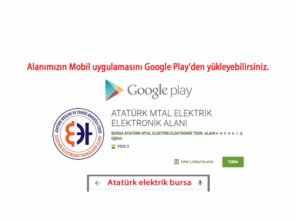 Alanımızın Mobil Uygulaması Google Play'de